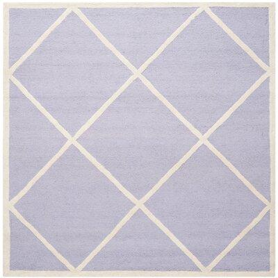 Martins Lavander / Ivory Area Rug Rug Size: Square 6