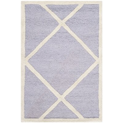 Martins Hand-Tufted Wool Lavander/Ivory Area Rug Rug Size: Rectangle 2 x 3