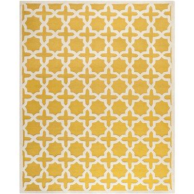 Martins Yellow Area Rug Rug Size: 6 x 9