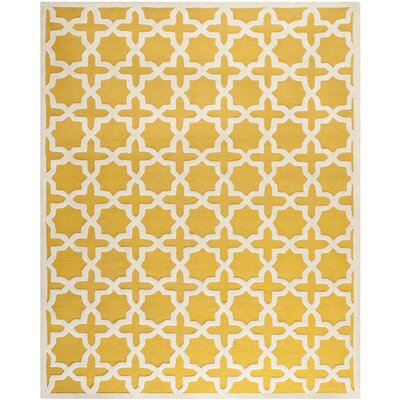 Martins Yellow Area Rug Rug Size: 9 x 12