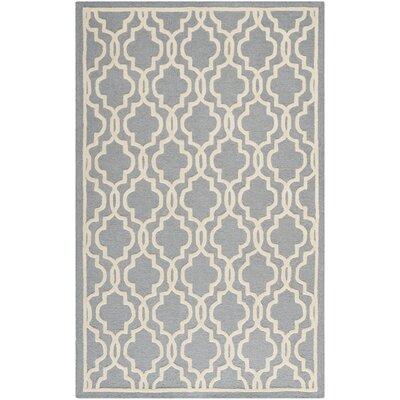 Martins Silver / Ivory Area Rug Rug Size: 10 x 14