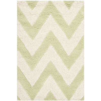 Charlenne Hand-Tufted Light Green/Ivory Area Rug Rug Size: Rectangle 2 x 3