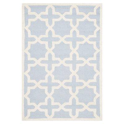 Martins Light Blue/Ivory Area Rug Rug Size: 3 x 5