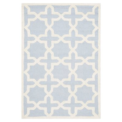 Martins Light Blue/Ivory Area Rug Rug Size: 6 x 9