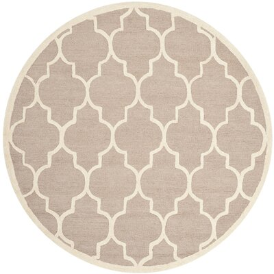 Charlenne Area Rug Rug Size: Round 8