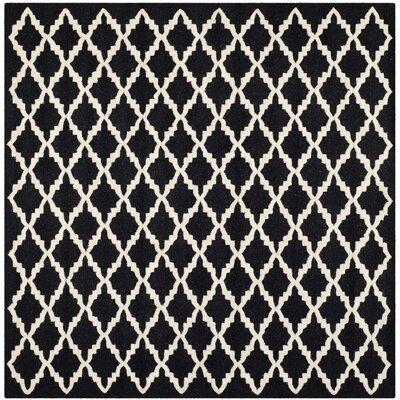 Martins Black/Ivory Area Rug Rug Size: Square 6