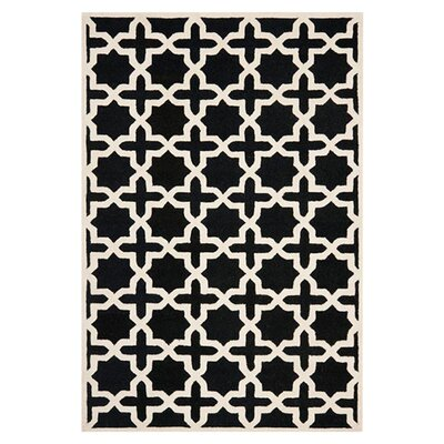 Martins Black Area Rug Rug Size: Rectangle 4 x 6
