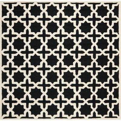 Martins Black/Ivory Area Rug Rug Size: Square 8