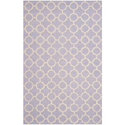 Martins Hand-Tufted Wool Lavander/Ivory Area Rug Rug Size: Rectangle 26 x 4