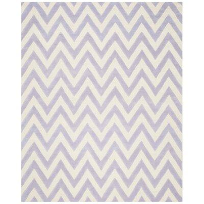 Charlenne Lavander / Ivory Area Rug Rug Size: 3 x 5
