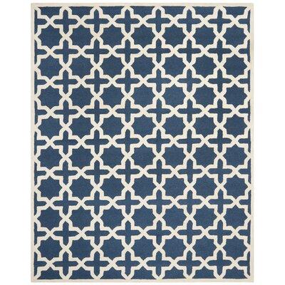 Martins Navy Blue / Ivory Area Rug Rug Size: 8 x 10