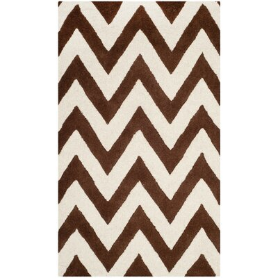 Martins Dark Brown/Ivory Area Rug Rug Size: 3 x 5