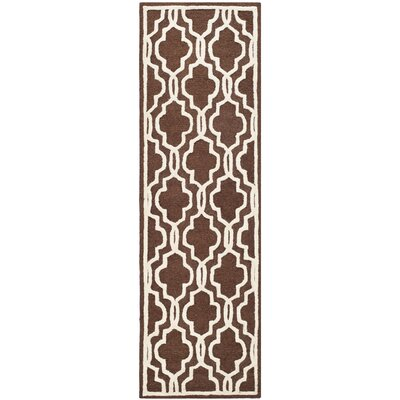 Martins Dark Brown/Ivory Area Rug Rug Size: Runner 26 x 6