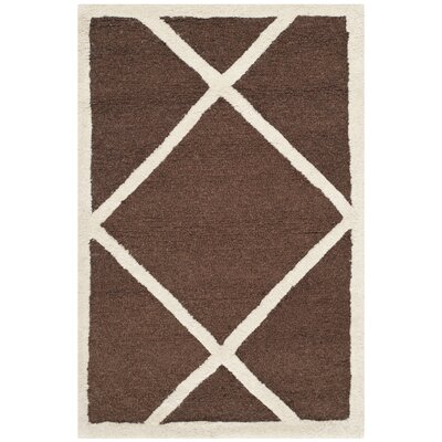 Martins Dark Brown/Ivory Area Rug Rug Size: 2 x 3