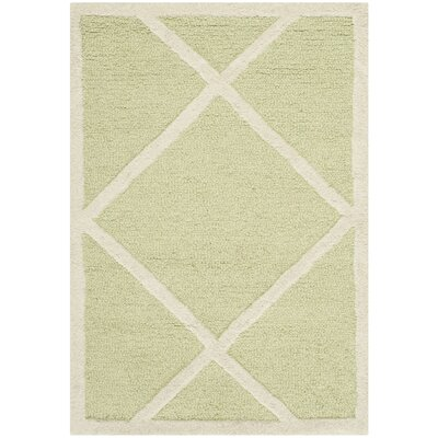 Martins Light Green / Ivory Area Rug Rug Size: Rectangle 2 x 3