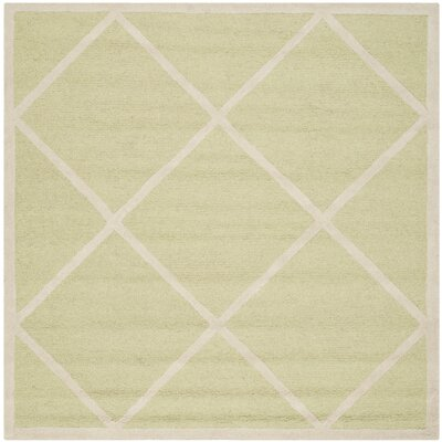 Martins Light Green / Ivory Area Rug Rug Size: Square 6