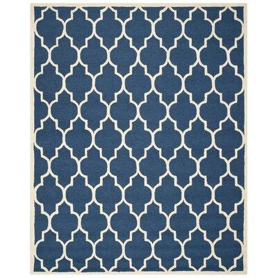 Charlenne Navy & Ivory Area Rug Rug Size: 2' x 3'