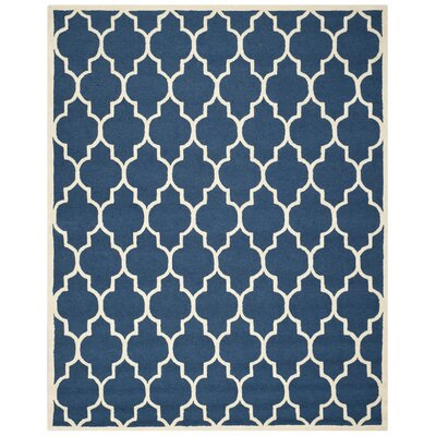 Martins Navy & Ivory Area Rug Rug Size: 26 x 4