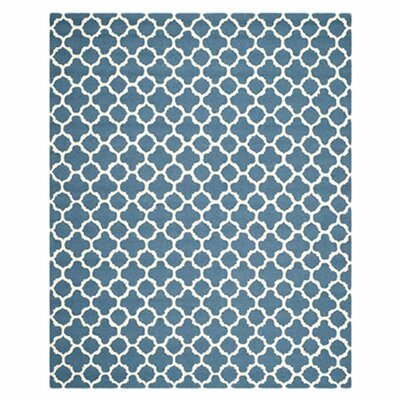 Martins Hand-Tufted Wool Blue Area Rug Rug Size: Rectangle 3 x 5