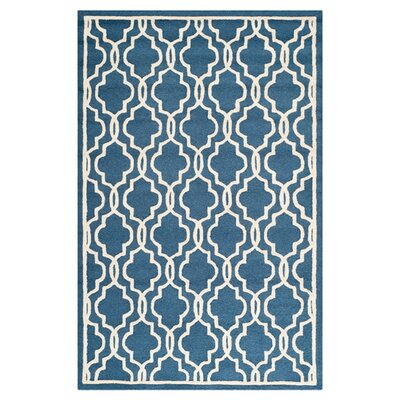Martins Navy / Ivory Area Rug Rug Size: 10' x 14'