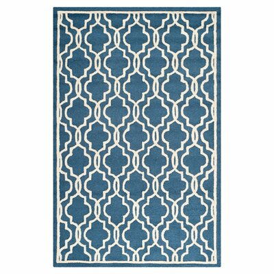 Martins Navy / Ivory Area Rug Rug Size: 116 x 16
