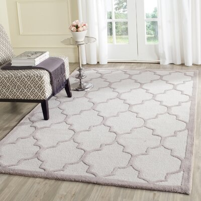 Charlenne Hand-Tufted Ivory/Beige Area Rug Rug Size: Rectangle 26 x 4