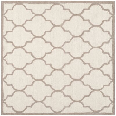Charlenne Ivory / Beige Area Rug Rug Size: Square 6