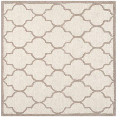 Charlenne Ivory / Beige Area Rug Rug Size: Square 8