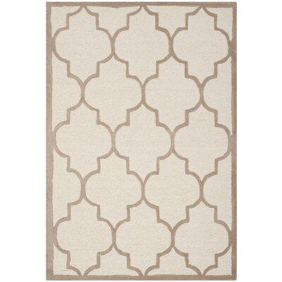Charlenne Ivory / Beige Area Rug Rug Size: 2 x 3