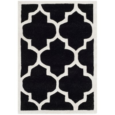 Wilkin Black / Ivory Moroccan Area Rug Rug Size: 2 x 3