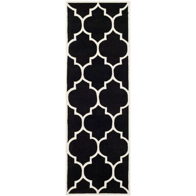 Wilkin Black / Ivory Moroccan Area Rug Rug Size: Runner 23 x 7