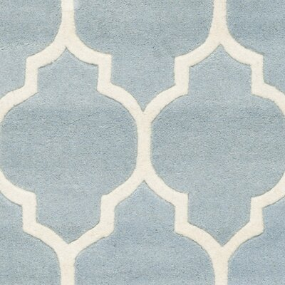 Wilkin Hand-Tufted Wool Blue/Ivory Area Rug