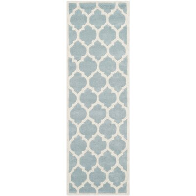 Wilkin Blue & Ivory Moroccan Area Rug Rug Size: Runner 23 x 9