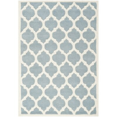 Wilkin Blue & Ivory Moroccan Area Rug Rug Size: 4 x 6