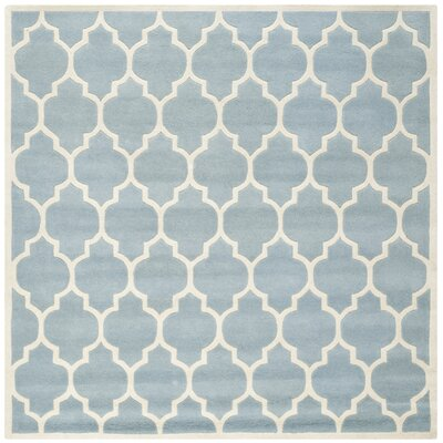 Wilkin Blue & Ivory Moroccan Area Rug Rug Size: Square 7