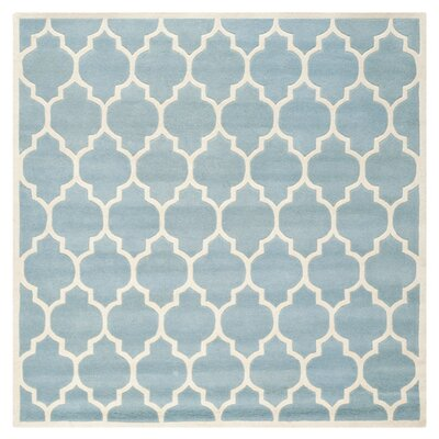 Wilkin Blue & Ivory Moroccan Area Rug Rug Size: Square 89