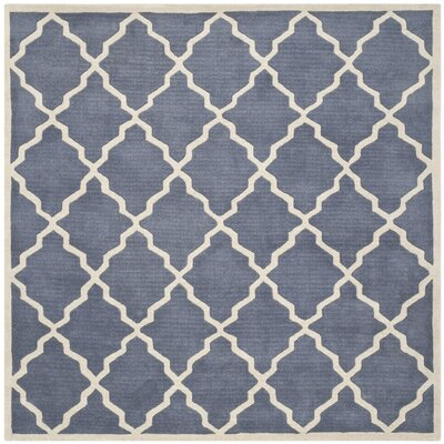 Wilkin Tufted Wool Gray/Ivory Area Rug Rug Size: Square 7