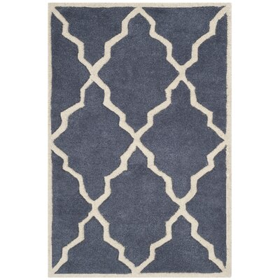 Wilkin Tufted Wool Gray/Ivory Area Rug Rug Size: Rectangle 2' x 3'