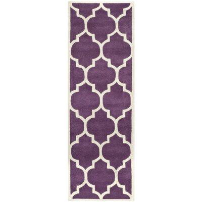 Wilkin Purple/Ivory Moroccan Area Rug Rug Size: Runner 23 x 5