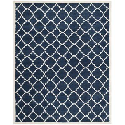 Wilkin Blue/Ivory Moroccan Area Rug Rug Size: Rectangle 89 x 12