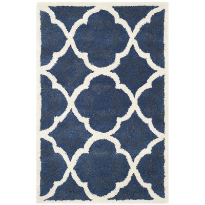 Wilkin Blue/Ivory Moroccan Area Rug Rug Size: Rectangle 2 x 3