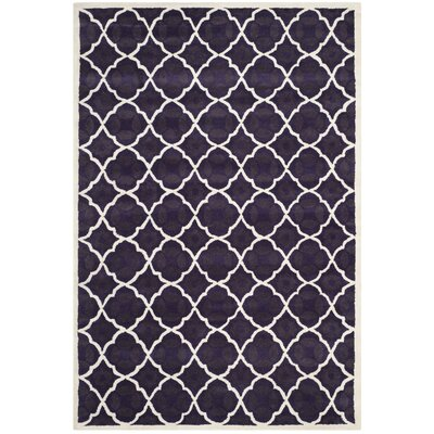 Wilkin Purple/Ivory Moroccan Area Rug Rug Size: Rectangle 6 x 9