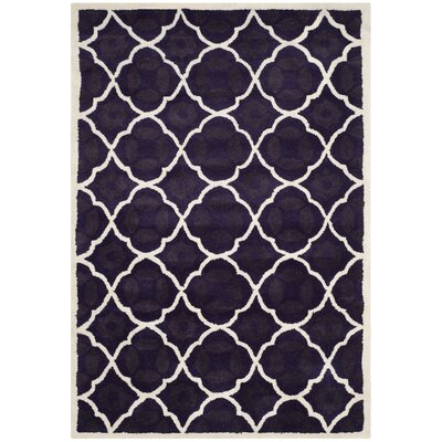 Wilkin Purple/Ivory Moroccan Area Rug Rug Size: 4 x 6