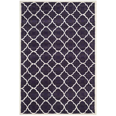 Wilkin Purple/Ivory Moroccan Area Rug Rug Size: 6 x 9