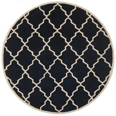 Wilkin Dark Blue Moroccan Rug Rug Size: Round 7