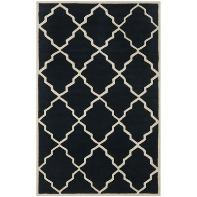 Wilkin Dark Blue Moroccan Rug Rug Size: Rectangle 3 x 5