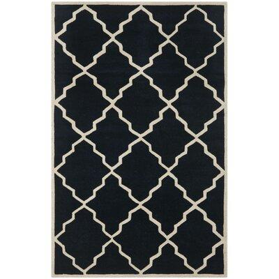 Wilkin Dark Blue Moroccan Rug Rug Size: 5 x 8