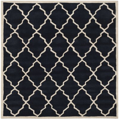 Wilkin Dark Blue Moroccan Rug Rug Size: Square 7