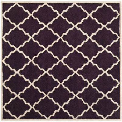 Wilkin Dark Purple Moroccan Rug Rug Size: Square 7