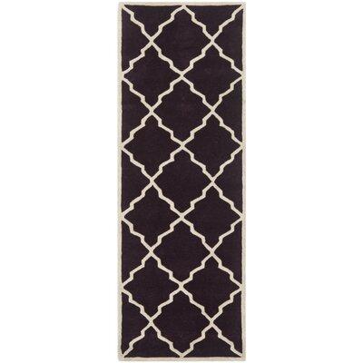 Wilkin Dark Purple Moroccan Rug Rug Size: Runner 23 x 7